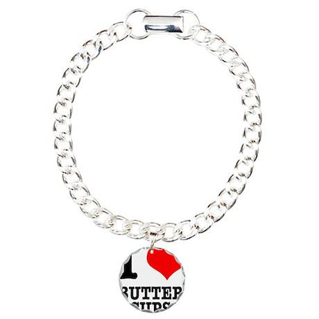 I Heart (Love) Buttercups Charm Bracelet, One Char
