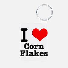 I Heart (Love) Corn Flakes Keychains