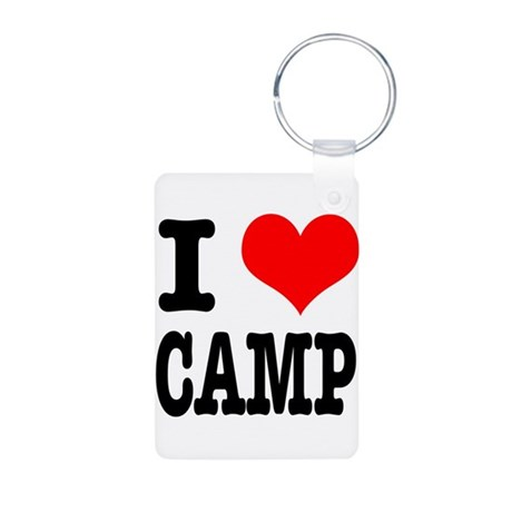 I Heart (Love) Camp Aluminum Photo Keychain