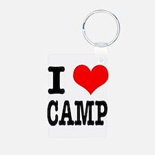 I Heart (Love) Camp Keychains