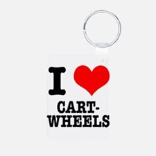 I Heart (Love) Cartwheels Keychains