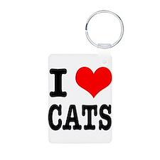I Heart (Love) Cats Keychains