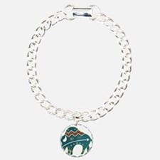 Native Buffalo Design Charm Bracelet, One Charm