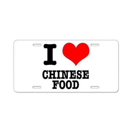 I Heart (Love) Chinese Food Aluminum License Plate