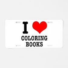 I (Heart) Love Coloring Books Aluminum License Pla