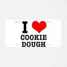 I Heart (Love) Cookie Dough Aluminum License Plate