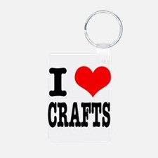I Heart (Love) Crafts Keychains