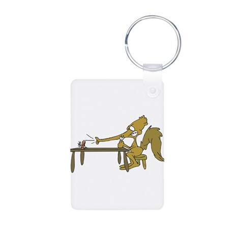 Hungry Silly Anteater Aluminum Photo Keychain