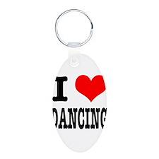 I Heart (Love) Dancing Keychains