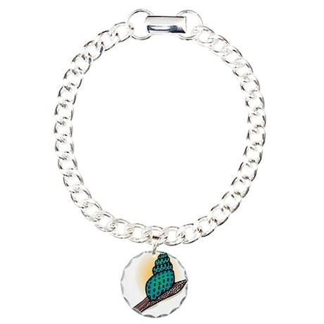 Pretty Turquoise Snail Charm Bracelet, One Charm