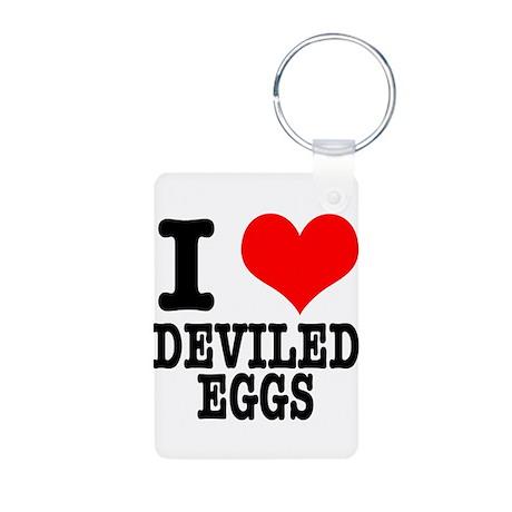 I heart (Love) Deviled Eggs Aluminum Photo Keychai