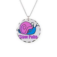 Slow Poke Snail Necklace