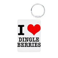 I Heart (Love) Dingleberries Keychains