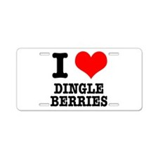 I Heart (Love) Dingleberries Aluminum License Plat