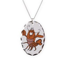 Toasting Wine Lobster Necklace