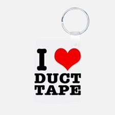 I Heart (Love) Duct Tape Keychains