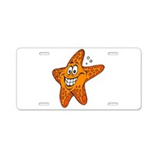 Happy Smiling Starfish Aluminum License Plate