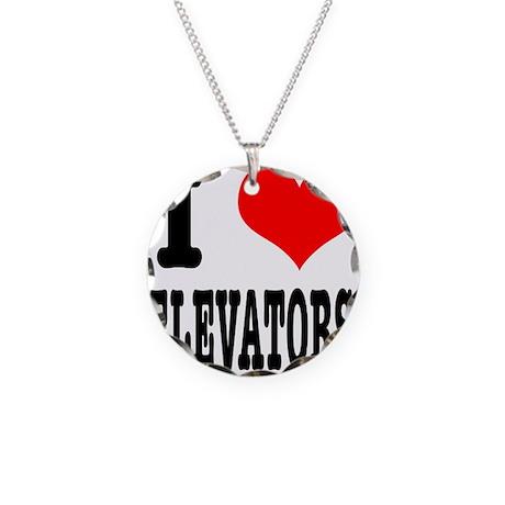 I Heart (Love) Elevators Necklace Circle Charm