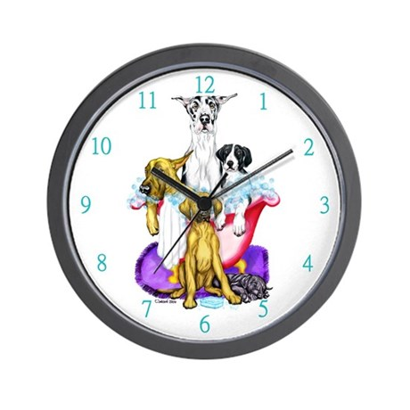 Great Dane Tub Full Wall Clock