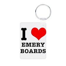 I Heart (Love) Emery Boards Keychains