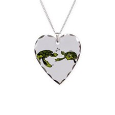 Baby Sea Turtles Swimming Necklace