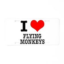 I Heart (Love) Flying Monkeys Aluminum License Pla