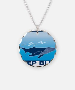 Deep Blue Sea Whale Design Necklace