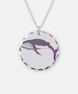 Cool Purple & Mauve Whale Des Necklace