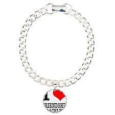 I Heart (Love) Friendship Bra Charm Bracelet, One