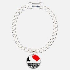 I Heart (Love) Friendship Bra Charm Bracelet, One