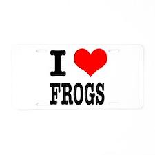 I Heart (Love) Frogs Aluminum License Plate