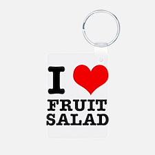 I Heart (Love) Fruit Salad Keychains