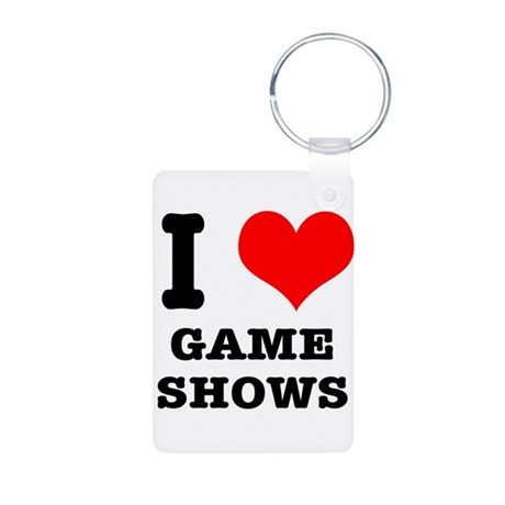 I Heart (Love) Game Shows Aluminum Photo Keychain