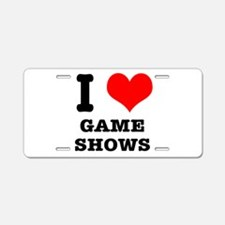 I Heart (Love) Game Shows Aluminum License Plate