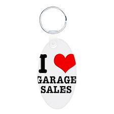 I Heart (Love) Garage Sales Keychains