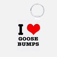 I Heart (Love) Goose Bumps Keychains