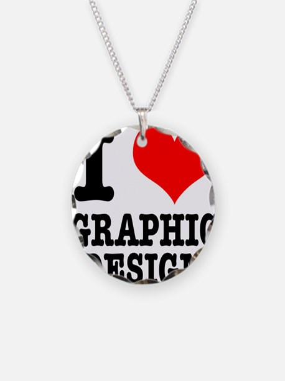 I Heart (Love) Graphic Design Necklace