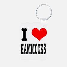 I Heart (Love) Hammocks Keychains
