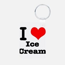 I Heart (Love) Ice Cream Keychains