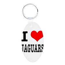 I Heart (Love) Jaguars Keychains