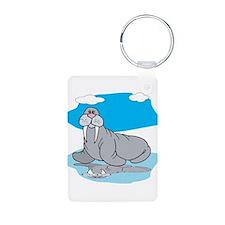 Cute Grey Walrus Keychains