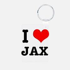 I Heart (Love) Jax Keychains