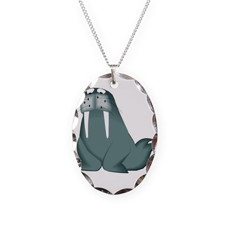 Walrus Necklace Oval Charm