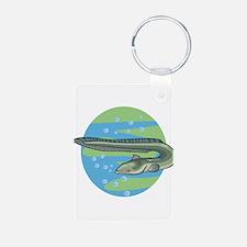 Swimming Eel Design Keychains