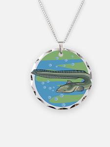 Swimming Eel Design Necklace