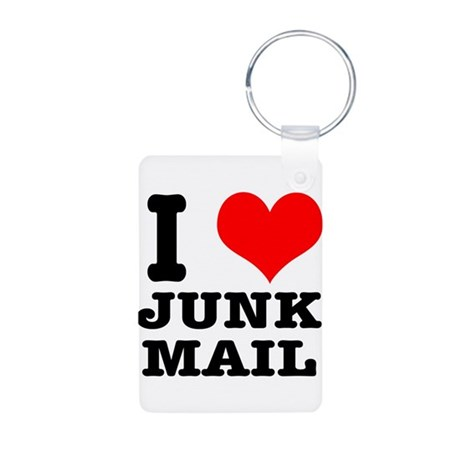 I Heart (Love) Junk Mail Aluminum Photo Keychain