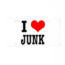I Heart (Love) Junk Aluminum License Plate