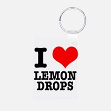I Heart (Love) Lemon Drops Keychains