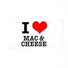 I Heart (Love) Mac & Cheese Aluminum License P