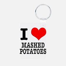 I Heart (Love) Mashed Potatoe Keychains